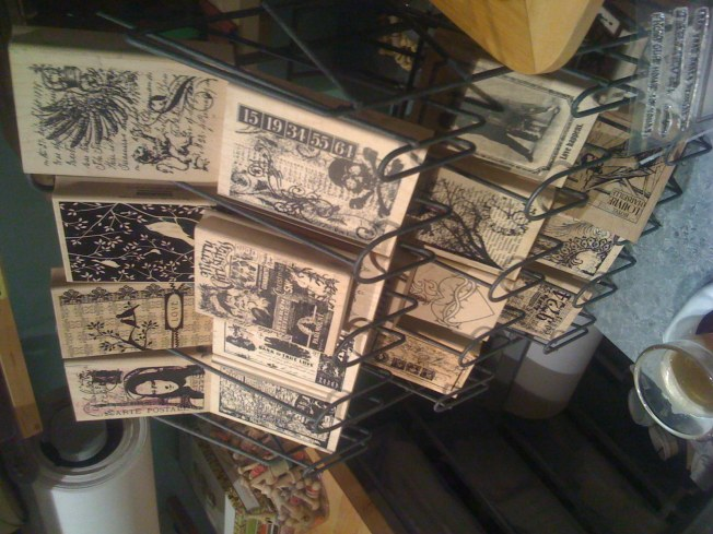 a few woodmounted stamps